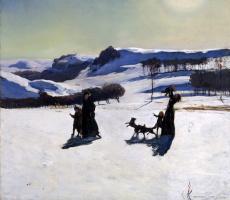 Рокуэлл Кент. Снежные поля. Зима в Беркшире