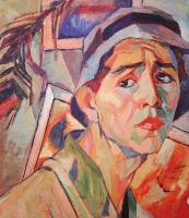 Александр Александрович Дейнека. Автопортрет в панаме