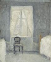 Вильгельм Хаммерсхёй. Интерьер спальни со стулом у окна