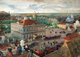 Alexander Nikolaevich Benoit. In the German quarter. Departure of Tsar Peter I of the house Lefort