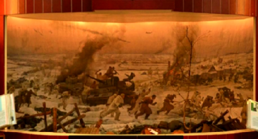 """Diorama """"The defeat of the Nazi troops in the area Yakhroma, Peremilovo"""""""