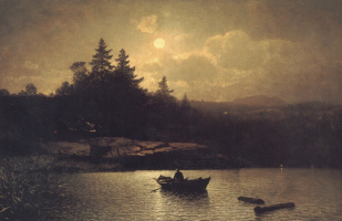 Софус Якобсен. Рыбалка в лунном свете