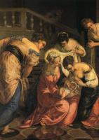 Якопо Тинторетто. Рождение Иоанна Крестителя