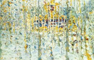 Kazimir Malevich. Landscape with yellow house