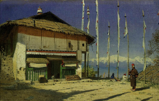 Vasily Vasilyevich Vereshchagin. Buddhist temple in Darjeeling. Sikkim