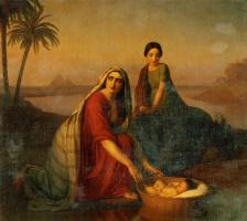 Алексей Васильевич Тыранов. Моисей, опускаемый матерью на воды Нила