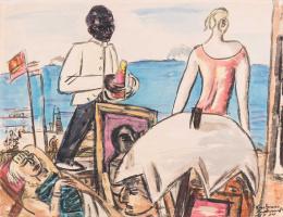 Max Beckmann. Zandvoort Seaside Café