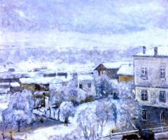 Фридрих Карл Фриске. Зимний пейзаж