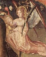 Антонелло да Мессина. Полиптих св. Георгия, центральная часть, сцена: Мадонна на троне, деталь: Ангел