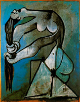 Pablo Picasso. Nude, wringing out the hair