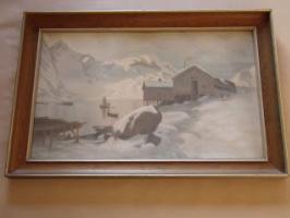Unknown artist. Landscape of Northern Norway.