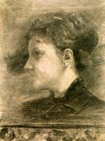 Томас Уилмер Дьюинг. Профиль женщины