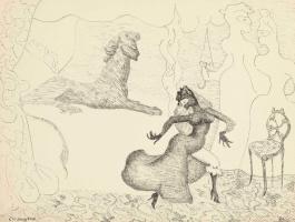 Leonora Carrington. Three plots (Two women and a Princess)