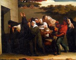 Jean-François Millet. Nuns and parrot