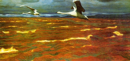Аркадий Александрович Рылов. Лебеди над Камой