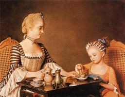 Жан-Этьен Лиотар. Мадам Лиотард с дочерью