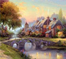 Thomas Kincaid. Paved bridge
