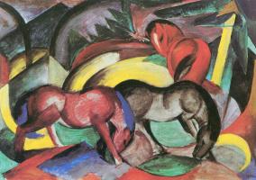Franz Marc. Three horses