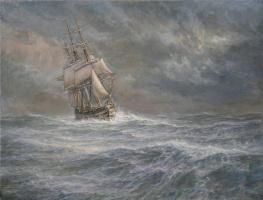 Владимир Михайлович Михайловский. Бурная Атлантика. Август 1842 г. «Ингерманланд»