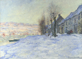 Claude Monet. Levacor, sun and snow