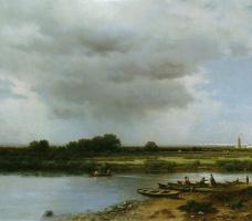 Лев Львович Каменев. Вид на реку Казанку