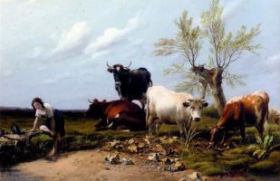 Томас Сидней Купер. Коровы пасутся