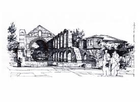 Nessebar. Church of St Sophia or the Old Bishopric (Stara Mitropoliya) (5th–6th century)