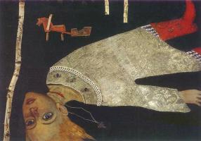 Илья Сергеевич Глазунов. Легенда о царевиче Димитрии.1967 инкрустация.
