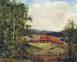 Эдвард Мунк. Пейзаж. Маридален близ Осло