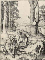 Лукас ван Лейден (Лука Лейденский). Магомет и монах Сергий