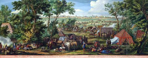 Французский лагерь перед крепостью