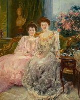 Paul Albert Benar. Portrait of the Kharitonenko sisters.