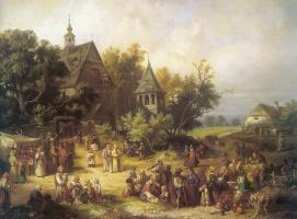 Францишек Кострзевски. Сельский пейзаж