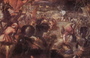 Jacopo Tintoretto. The battle of the Taro