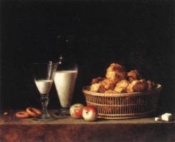 Henri-Horace Roland Delaporte. Still life with carafe of barley wine