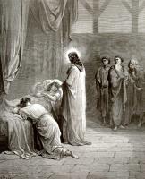 Поль Гюстав Доре. Иллюстрация к Библии: Воскрешение дочери Иаира
