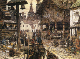 Аполлинарий Михайлович Васнецов. На крестце в Китай-городе