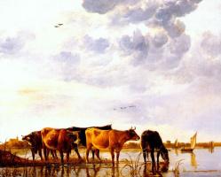 Альберт Кейп. Скот у реки