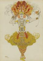 Lev Samoilovich Bakst (Leon Bakst). Costume design Tamara Karsavina ballet the Firebird