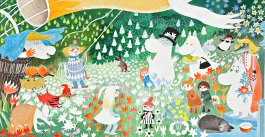 """Туве Янссон. Иллюстрация к рассказу Т. Янссон """"Опасное путешествие"""""""