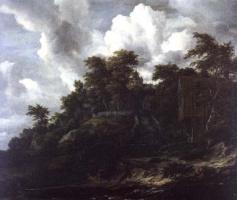 Якоб Исаакс ван Рейсдал. Склон с видом на замок
