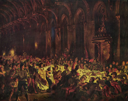 Эжен Делакруа. Убийство люттихского епископа