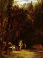 Карл Эдуард Фердинанд Блехен. Купающиеся девушки в парке Терни