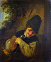 Адриан ван Остаде. Крестьянин с кувшином