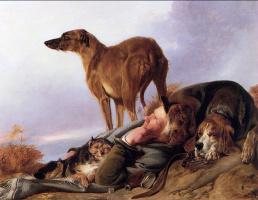 Richard Ansdell. Man and his dog