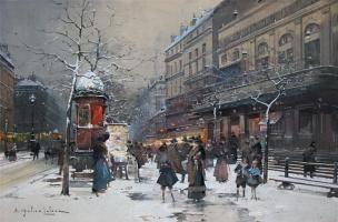 Эжен Галиен. Зима в Париже
