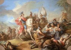 Charles Andre van Loo. The Victory Of Alexander