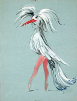 "Dorothea Tunning. Sophistication. Costume design for the ballet ""Night shadow"""