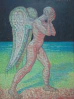 Вячеслав Коренев. Ангел. Левая часть диптиха.