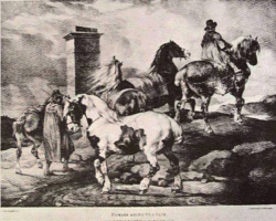 Théodore Géricault. Horse